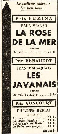 L'OEuvre,  22 décembre 1939