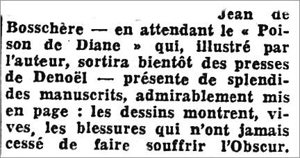 L'Intransigeant,  26 février 1939