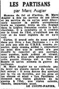 Le Matin,  18 septembre 1943